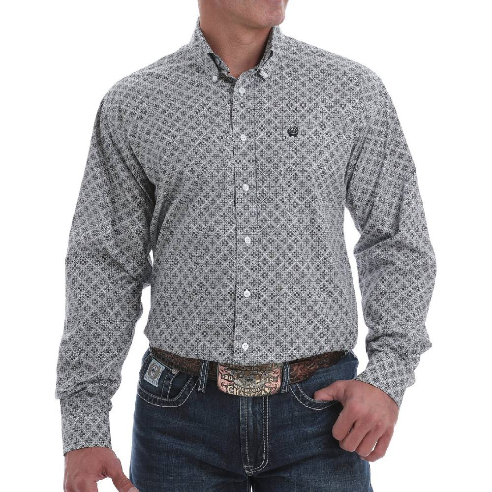 Cinch Geo Print Button Down Shirt MEN - Clothing - Shirts - Long Sleeve Shirts CINCH Teskeys