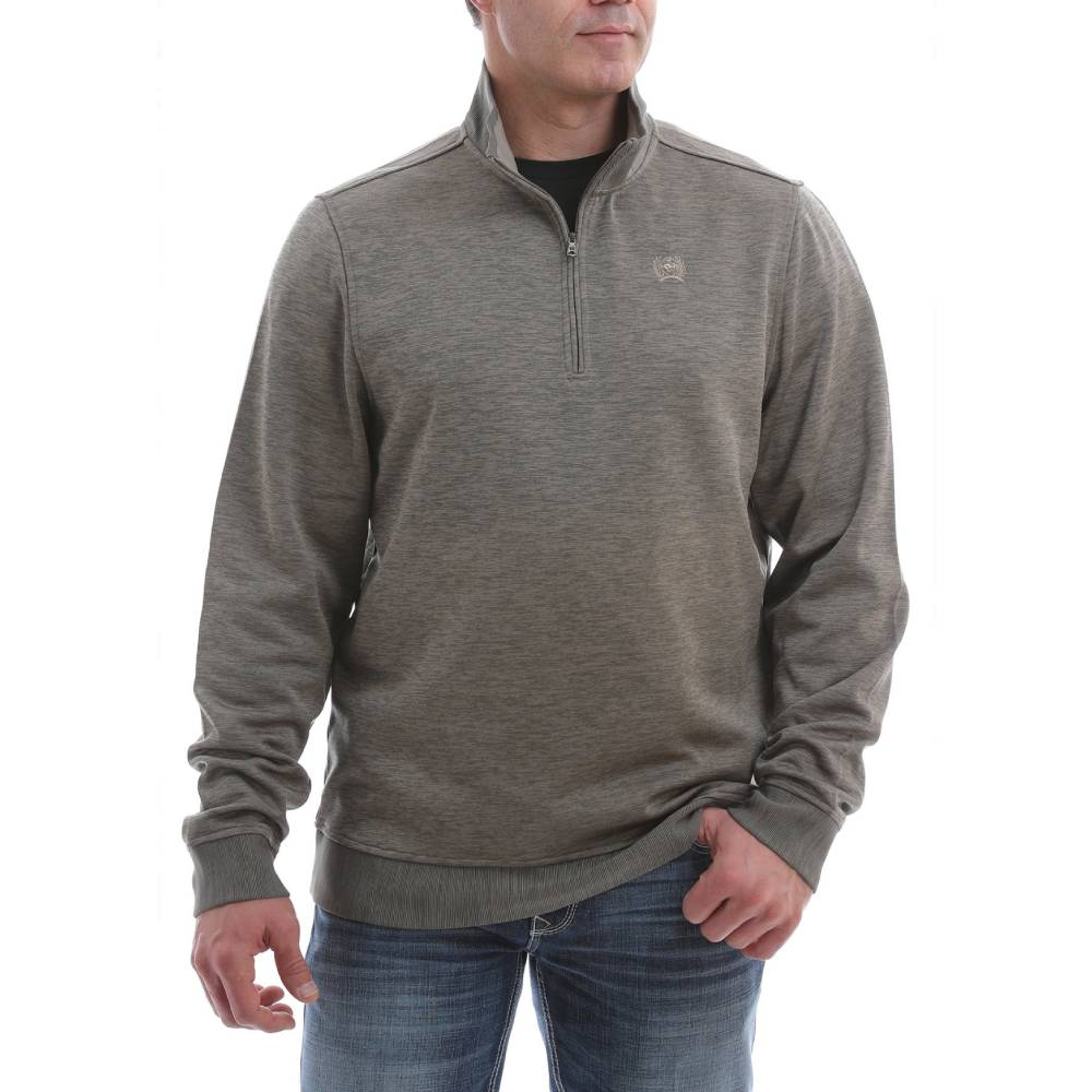 Cinch Men's 1/4 Zip Pullover - Heather Khaki MEN - Clothing - Pullovers & Hoodies CINCH Teskeys