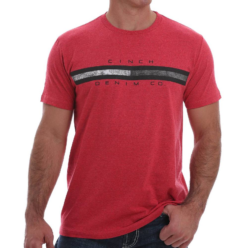 Cinch Crew Neck Logo Tee MEN - Clothing - Shirts - Short Sleeve Shirts CINCH Teskeys