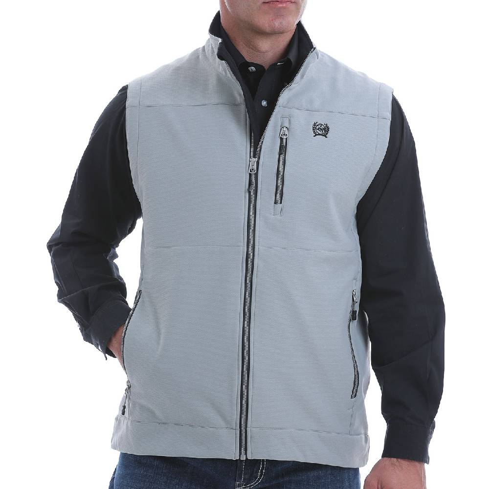 Cinch Men's Textured Bonded Vest MEN - Clothing - Outerwear - Vests CINCH Teskeys