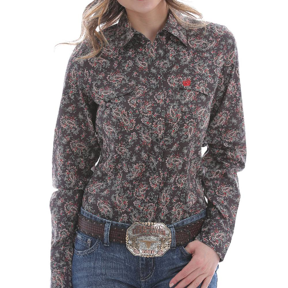 Cinch Women's Floral Print Snap Shirt