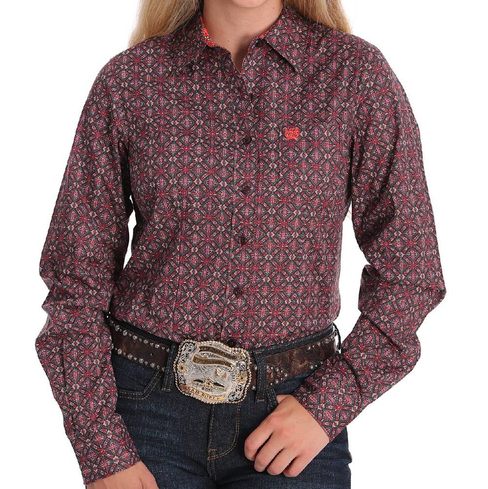 Cinch Women's Geo Print Button Up Shirt WOMEN - Clothing - Tops - Long Sleeved CINCH Teskeys