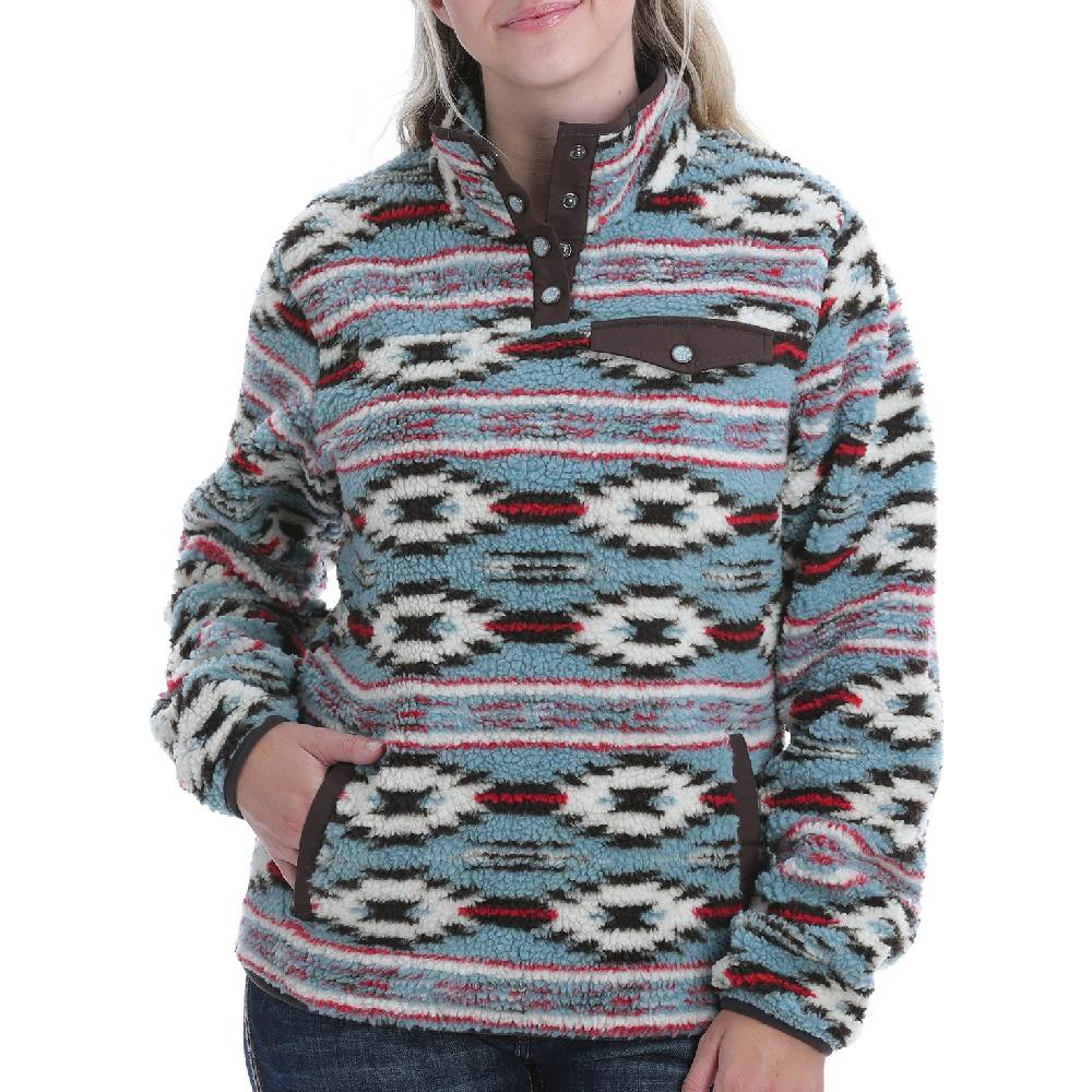Cinch Women's Southwest Print Fleece Pullover WOMEN - Clothing - Sweatshirts & Hoodies CINCH Teskeys
