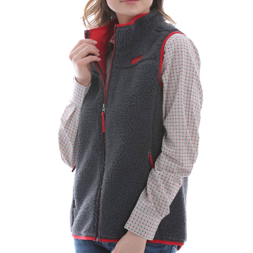 Cinch Women's Sherpa Vest WOMEN - Clothing - Outerwear - Vests CINCH Teskeys