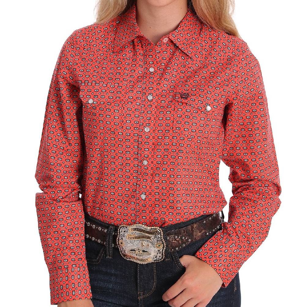 Cinch Women's Southwest Print Snap Shirt WOMEN - Clothing - Tops - Long Sleeved CINCH Teskeys