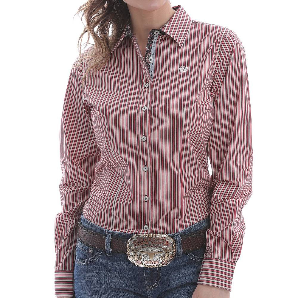 Cinch Women's Stripe Button Up Shirt