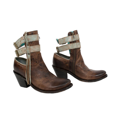 Corral Buckle Strap Bootie WOMEN - Footwear - Boots - Booties CORRAL BOOTS Teskeys