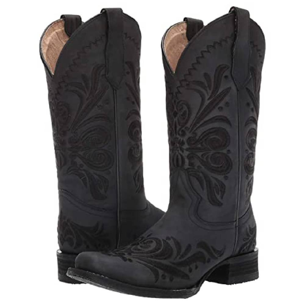 Corral Black Embroidery Boots WOMEN - Footwear - Boots - Western Boots CORRAL BOOTS Teskeys