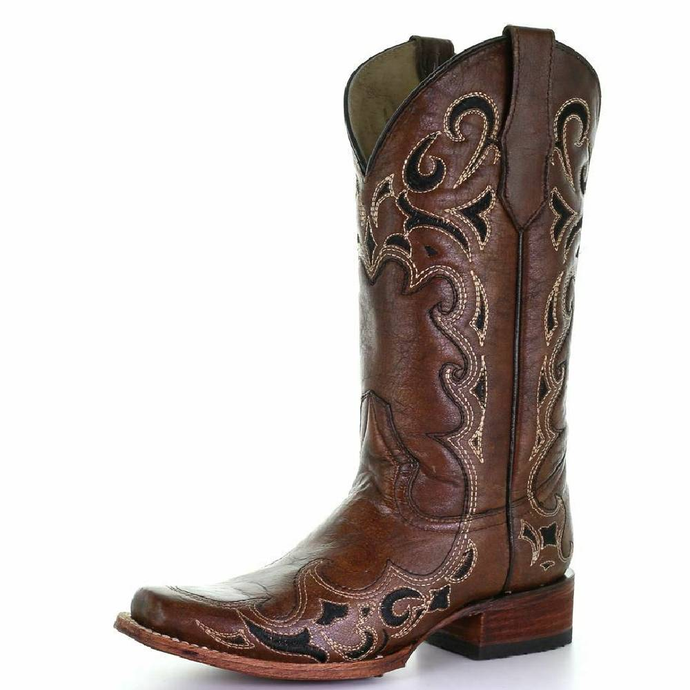 Corral Circle G Embroidered Square Toe Boot WOMEN - Footwear - Boots - Western Boots CORRAL BOOTS Teskeys