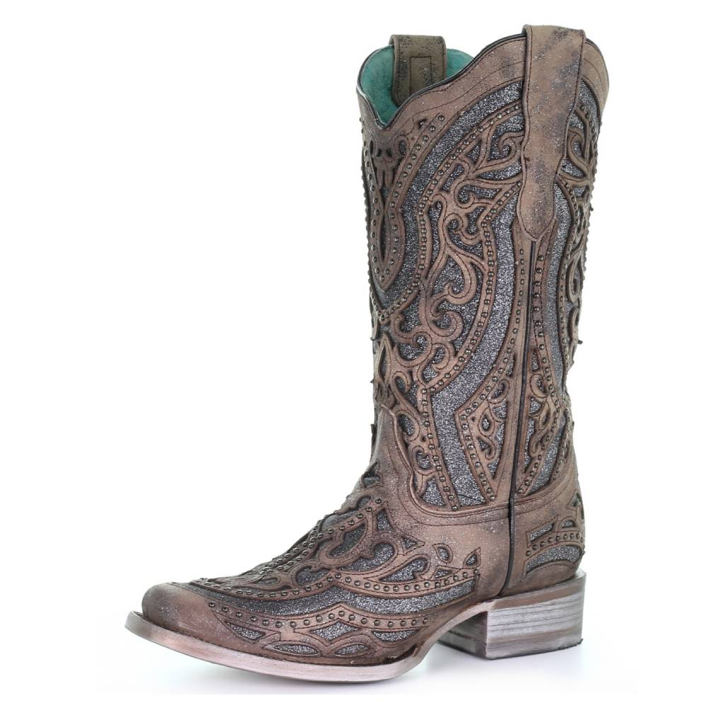 Corral Embroidery & Stud Boot WOMEN - Footwear - Boots - Fashion Boots CORRAL BOOTS Teskeys