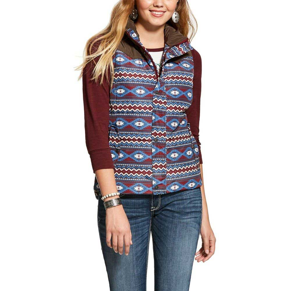 Ariat Aztec Printed Country Vest WOMEN - Clothing - Outerwear - Vests Ariat Clothing Teskeys