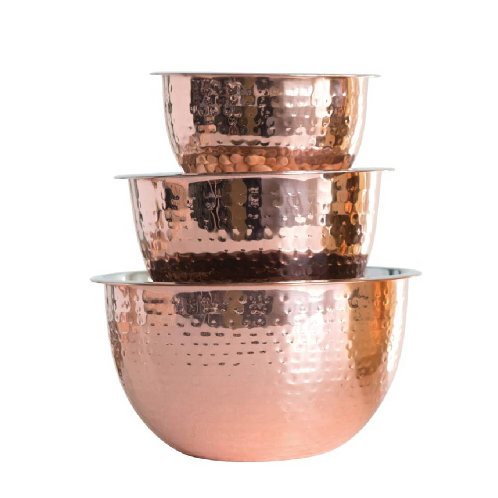 Copper Finish Hammered Bowl HOME & GIFTS - Tabletop + Kitchen - Serveware & Utensils Creative Co-Op Teskeys