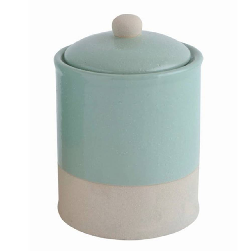 Round Glazed Canister HOME & GIFTS - Tabletop + Kitchen - Kitchen Decor Creative Co-Op Teskeys