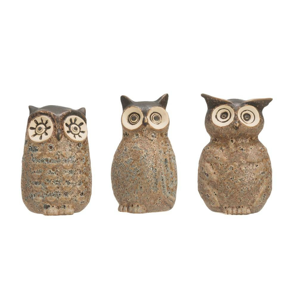 Stoneware Owl Vase Home & Gifts - Home Decor - Decorative Accents Creative Co-Op Teskeys