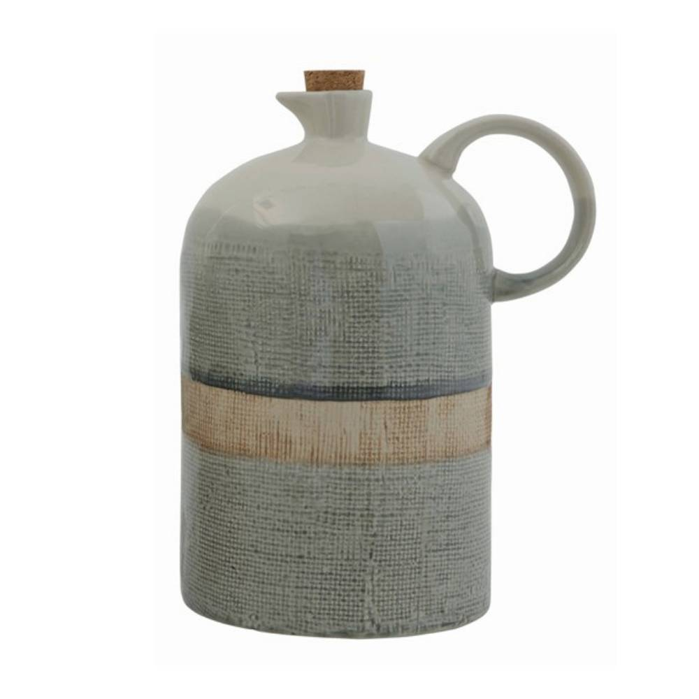 40oz Ceramic Glaze Jug HOME & GIFTS - Home Decor - Decorative Accents Creative Co-Op Teskeys