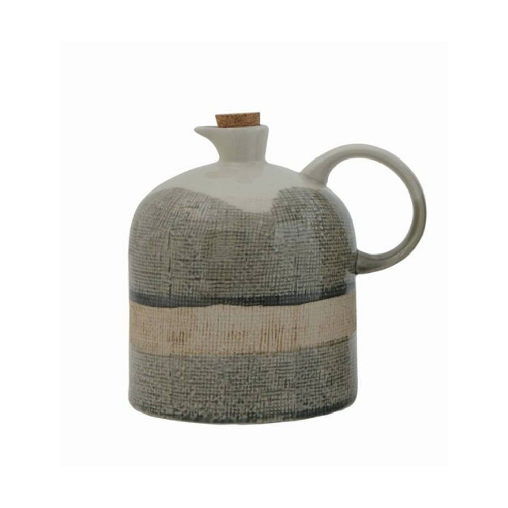 24oz Ceramic Glaze Jug HOME & GIFTS - Home Decor - Decorative Accents Creative Co-Op Teskeys