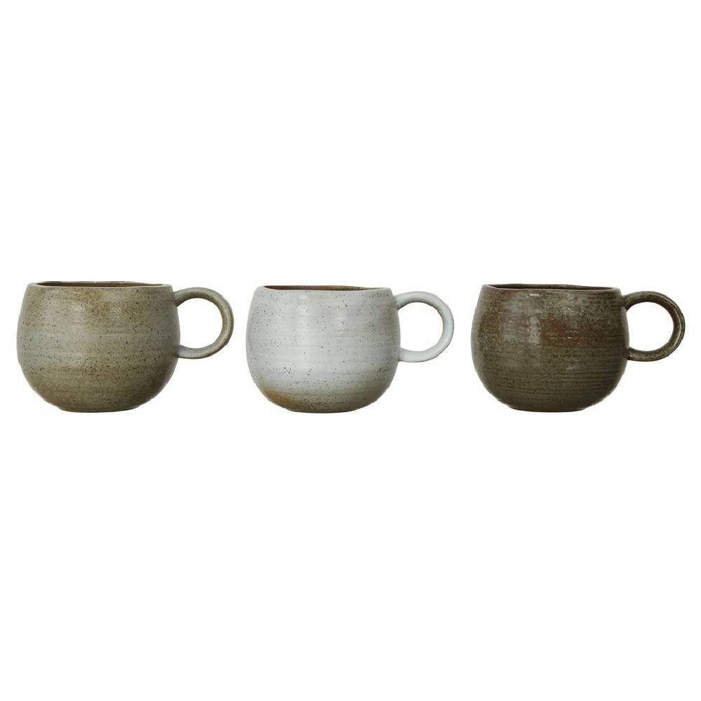 16oz Round Stoneware Mug Home & Gifts - Tabletop + Kitchen - Drinkware + Glassware Creative Co-Op Teskeys