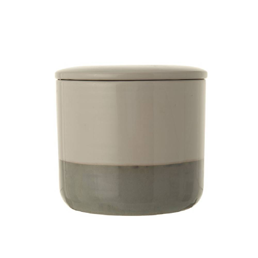 Stoneware Canister HOME & GIFTS - Tabletop + Kitchen - Kitchen Decor Creative Co-Op Teskeys