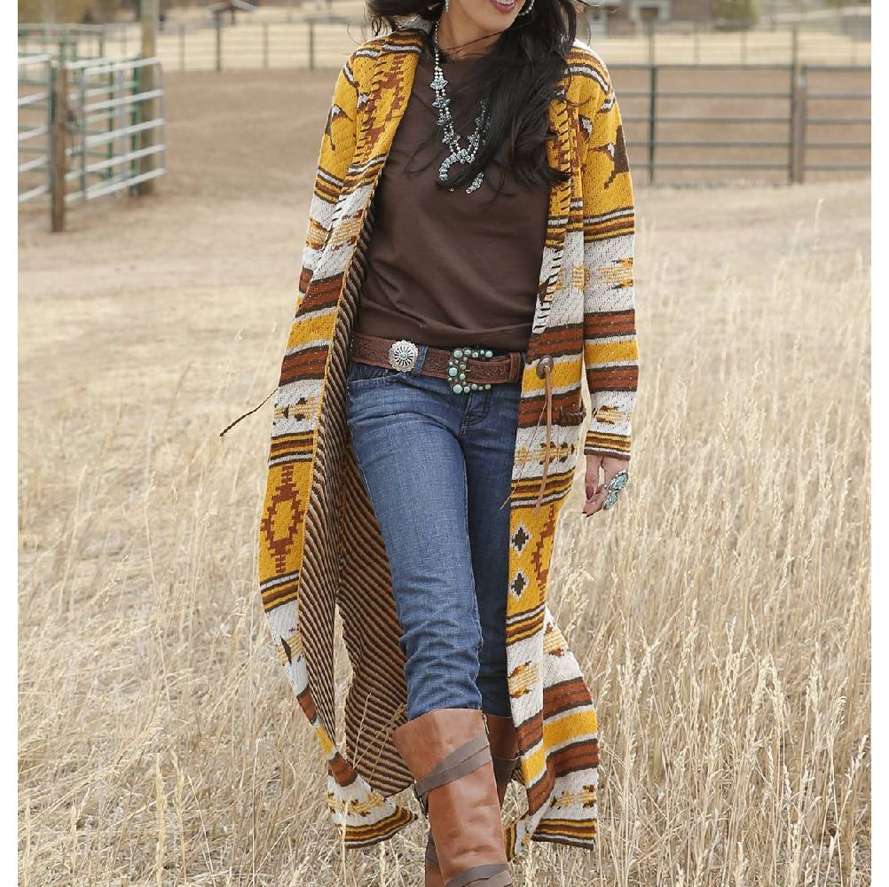 Cruel Denim Aztec Duster Sweater