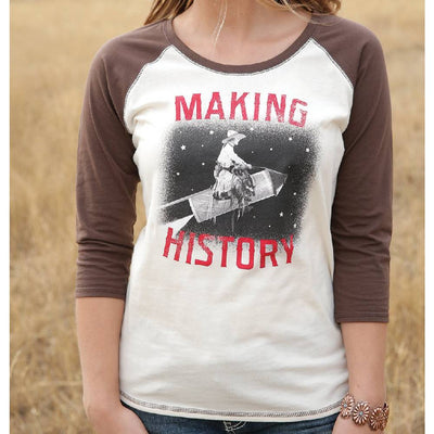 Cruel Denim Making History Raglan Tee WOMEN - Clothing - Tops - Long Sleeved Cruel Denim Teskeys