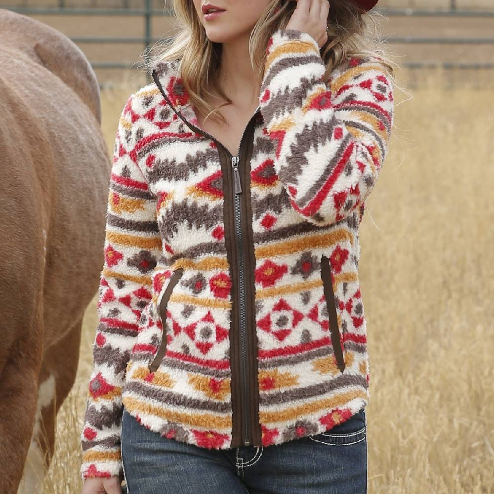 Cruel Denim Southwest Print Fleece Jacket