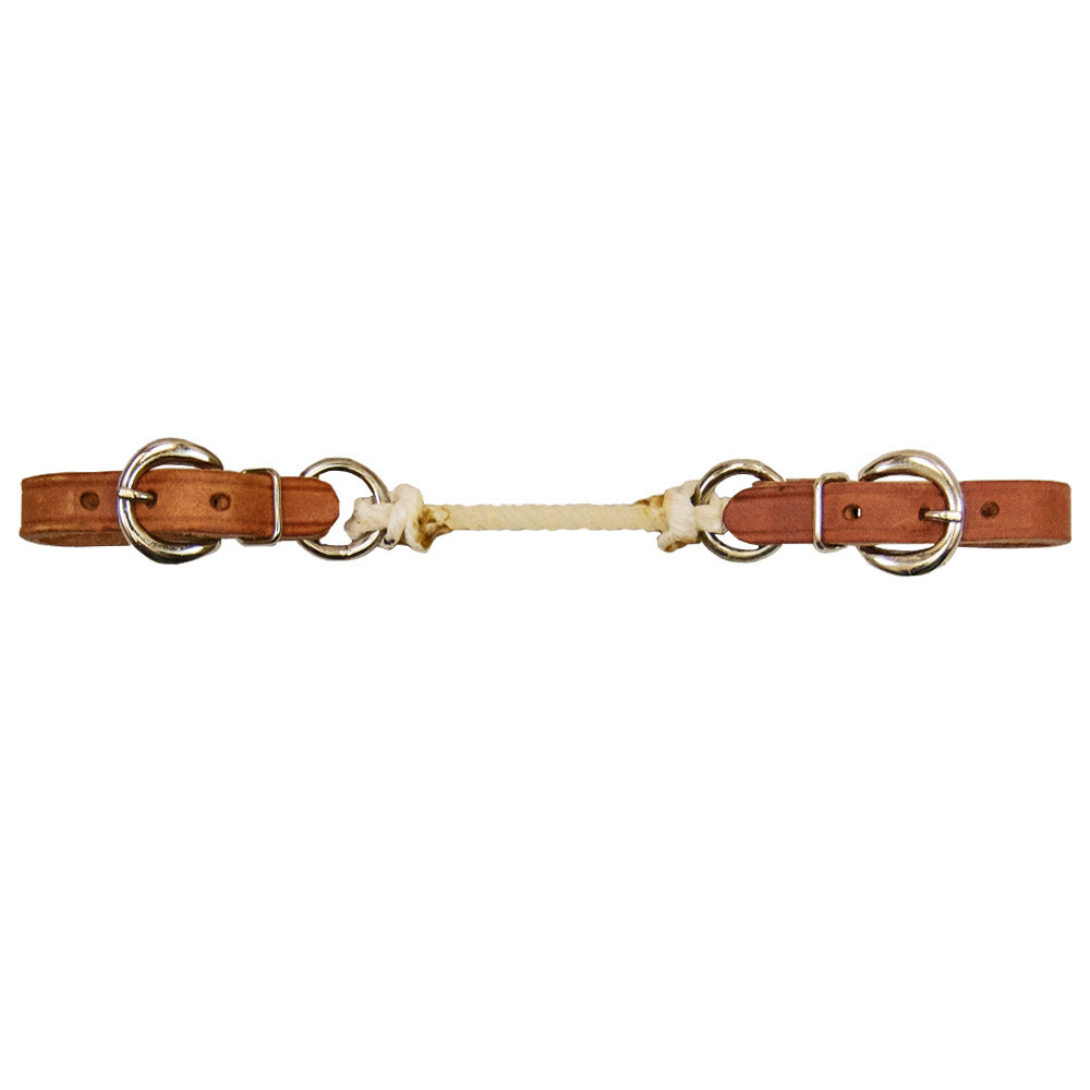 Harness Leather Curb Strap with Colored Nylon Tack - Bits, Spurs & Curbs Teskey's Teskeys