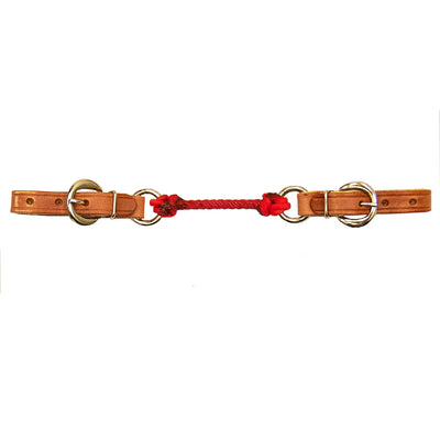 Harness Leather Curb Strap with Colored Nylon Tack - Bits, Spurs & Curbs Teskeys Teskeys