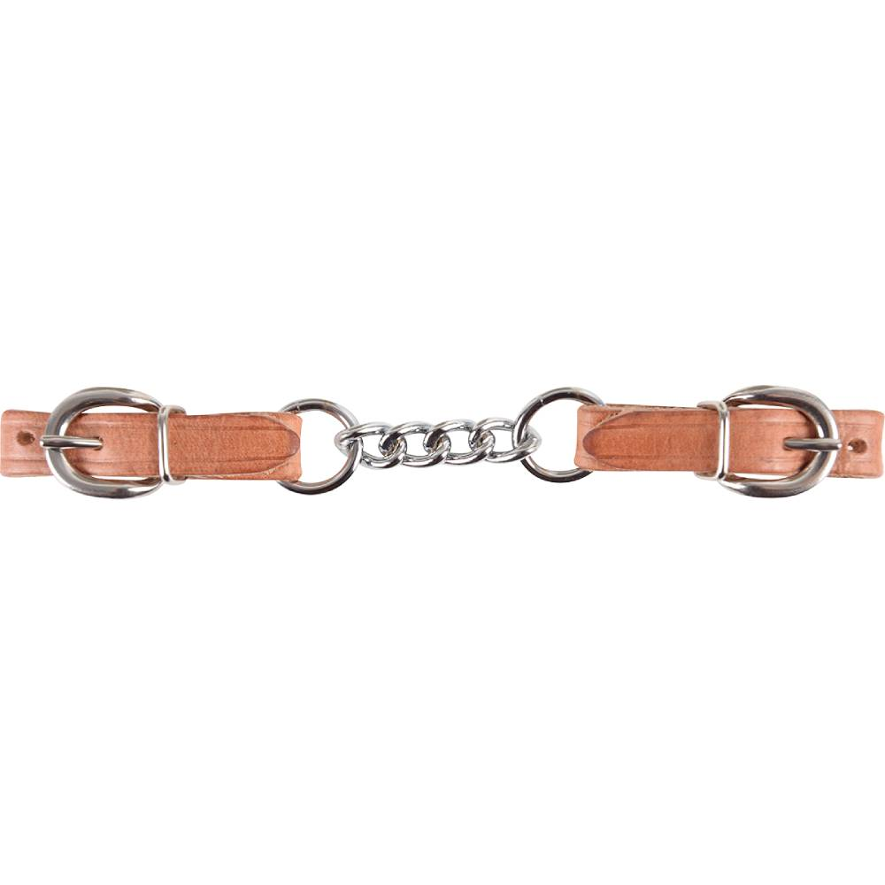 Martin Saddlery Harness Leather And Chain Curb Strap Tack - Bits, Spurs & Curbs - Curbs Martin Saddlery Teskeys