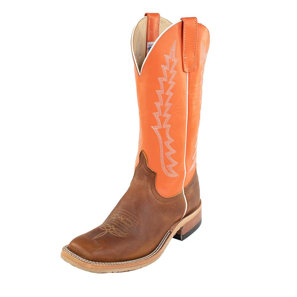 Anderson Bean Briar/Orange Boot MEN - Footwear - Western Boots ANDERSON BEAN BOOT CO. Teskeys