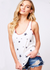 Contrast Stitching Star Print Tank Top WOMEN - Clothing - Tops - Sleeveless FANTASTIC FAWN Teskeys