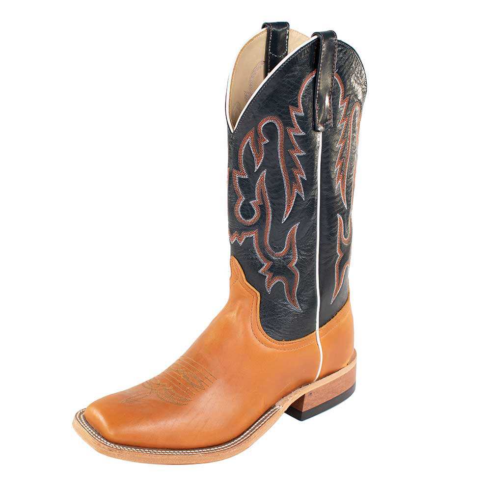 Anderson Bean Tan/ Essex Blue Boots MEN - Footwear - Western Boots ANDERSON BEAN BOOT CO. Teskeys