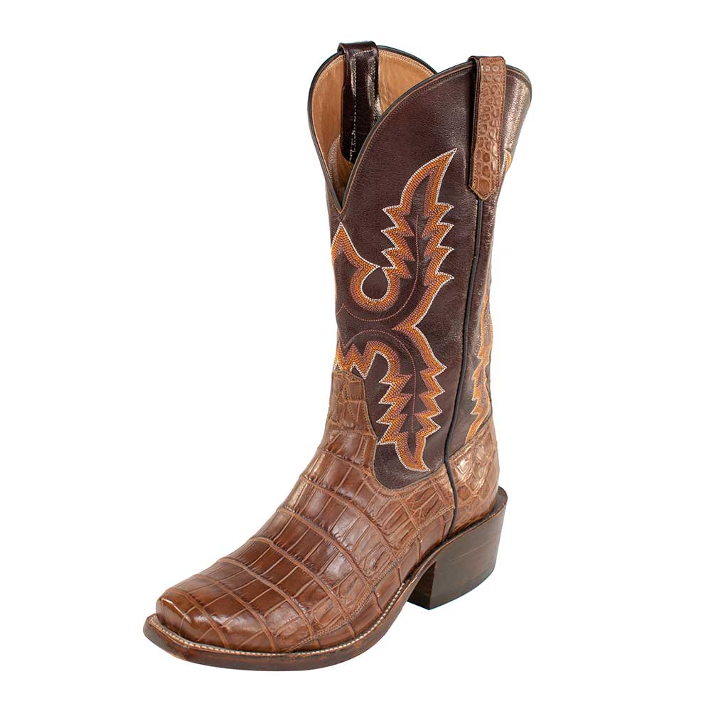 Rios of Mercedes Nile Croc Belly Boot MEN - Footwear - Exotic Western Boots RIOS OF MERCEDES BOOT CO. Teskeys