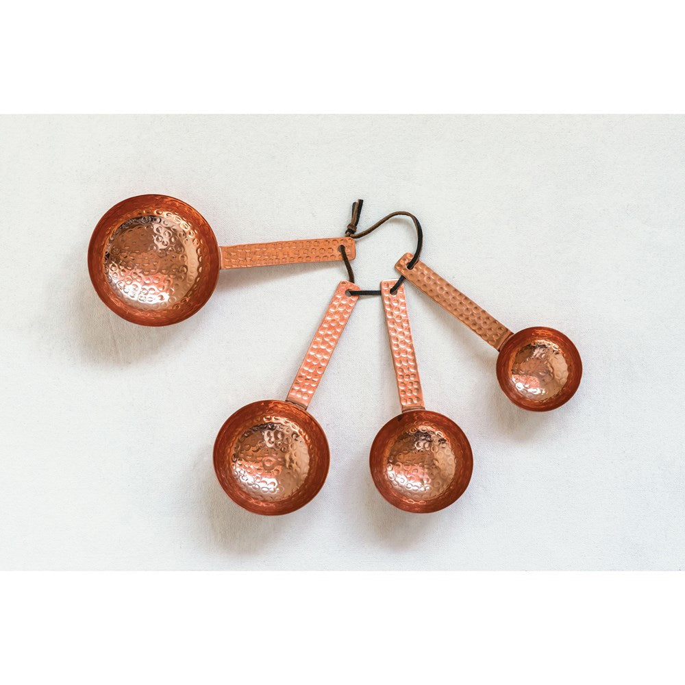 Hammered Copper Scoops