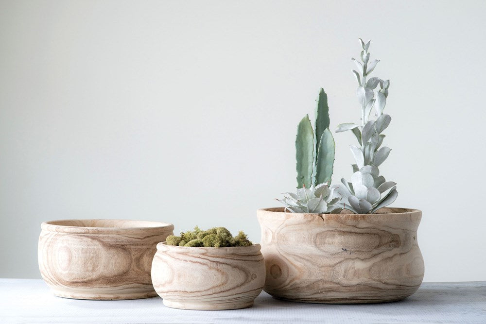 Paulownia Wood Planter HOME & GIFTS - Tabletop + Kitchen - Serveware & Utensils Creative Co-op Teskeys
