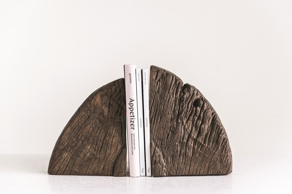 Found Wood Wheel Cog Bookends HOME & GIFTS - Home Decor - Decorative Accents Creative Co-op Teskeys