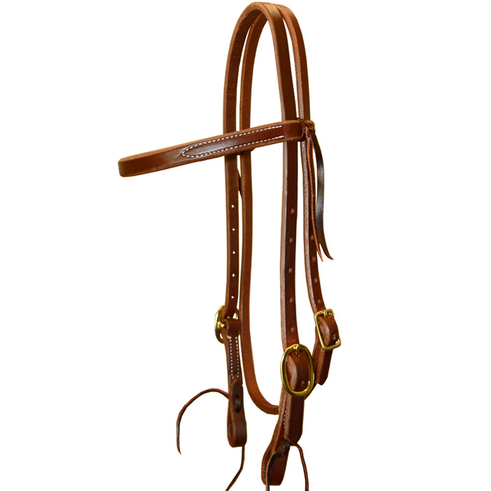 Teskey's Heavy Oil Harness Browband Headstall Tack - Headstalls - Browband Teskey's Teskeys