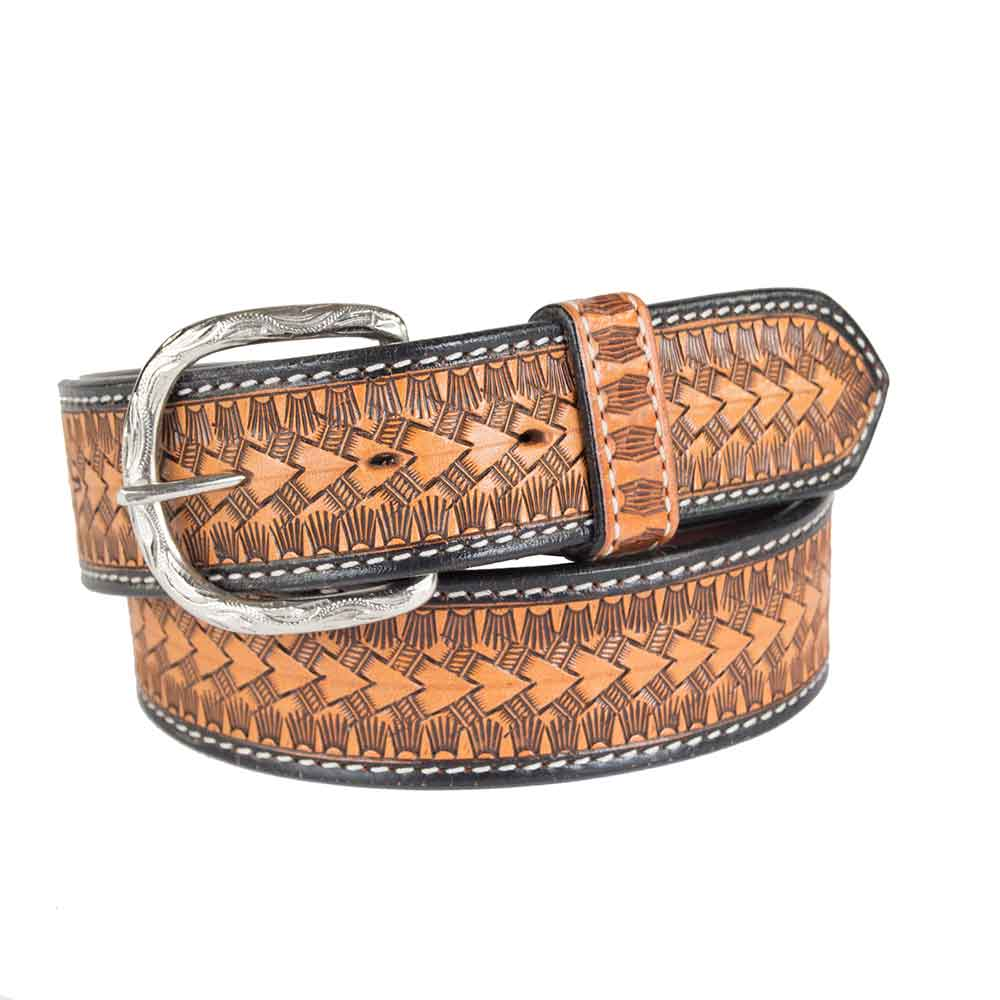 Teskey's Arrow Basketweave Belt MEN - Accessories - Belts & Suspenders Teskey's Belts Teskeys