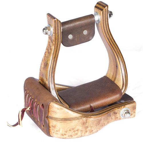 "Don Orrell 3"" Offset Premier Birds Eye Maple Stirrups Saddles - Saddle Accessories Don Orrell Teskeys"