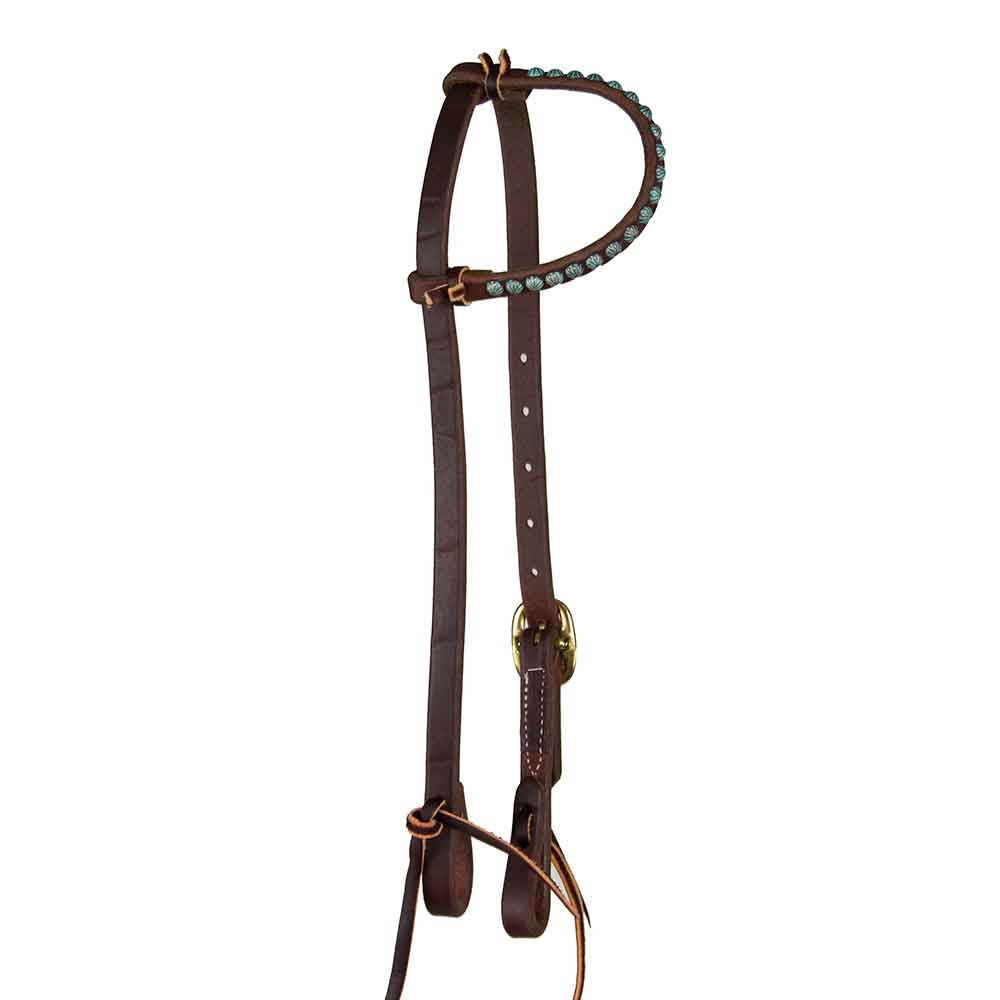 Headstall with Parachute Dots for Short No Hit Bit Tack - Headstalls No Hit Bit Teskeys