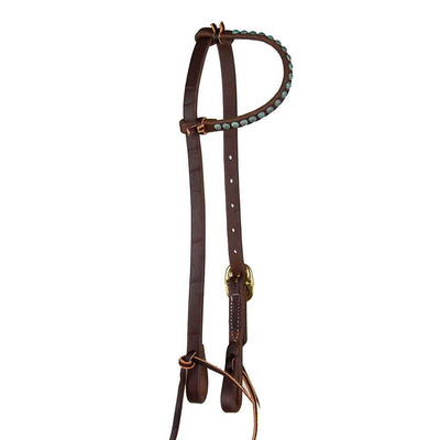 Headstall with Parachute Dots for Short No Hit Bit Tack - Headstalls - One Ear No Hit Bit Teskeys