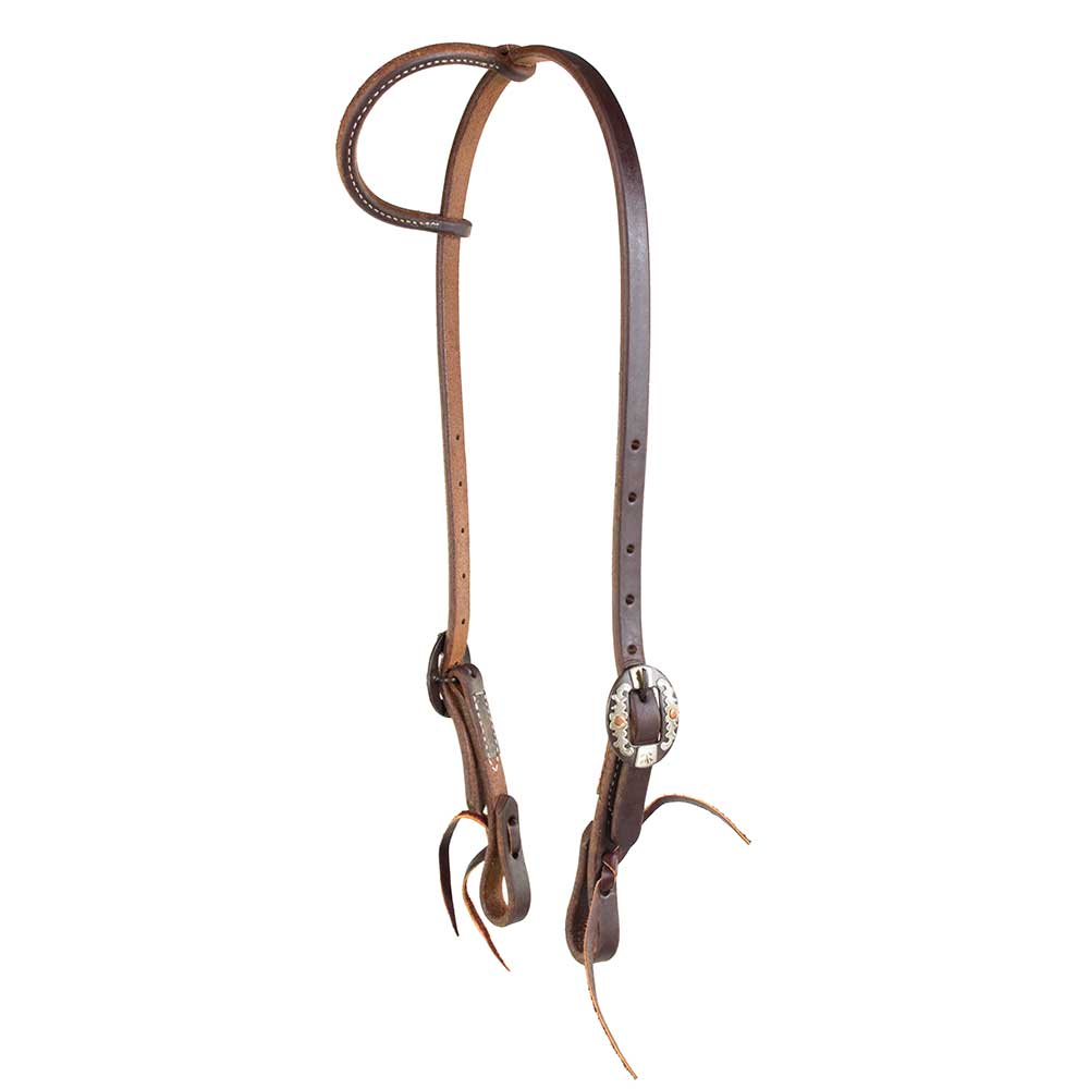 "Teskey's 5/8"" Heavy Oil One Ear Headstall Tack - Headstalls - One Ear Teskey's Teskeys"
