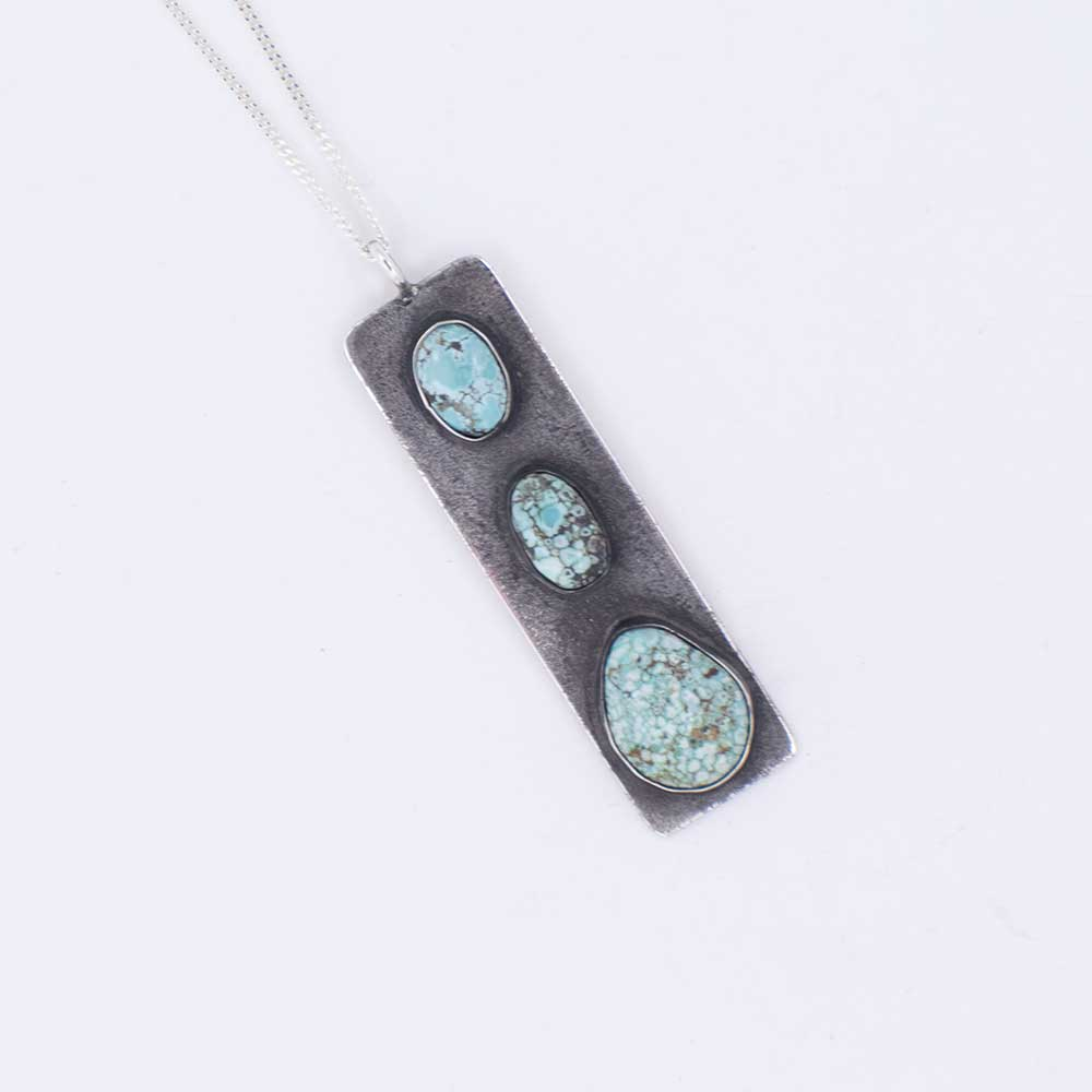 Carico Lake 3 Stone Turquoise Pendant Necklace WOMEN - Accessories - Jewelry - Necklaces Teskeys Teskeys