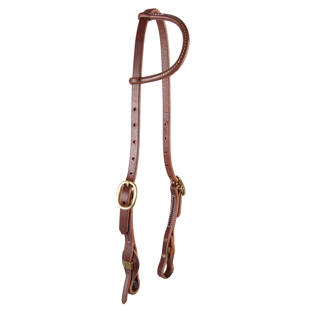 One Ear Headstall with Quick Change Bit Ends Tack - Headstalls Teskey's Teskeys