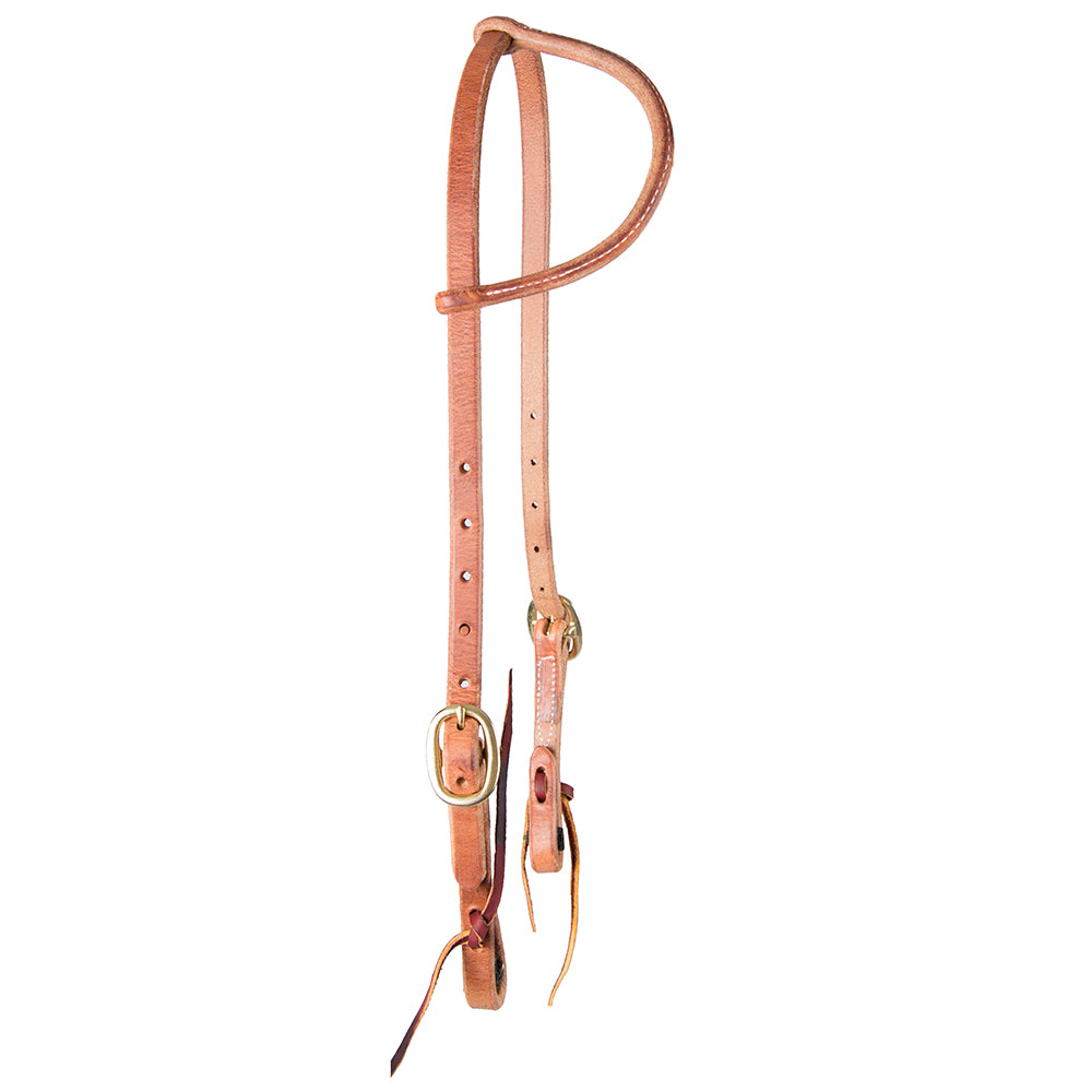 Teskey's One Ear Headstall - Light or Heavy Oil Tack - Headstalls - One Ear Teskey's Teskeys