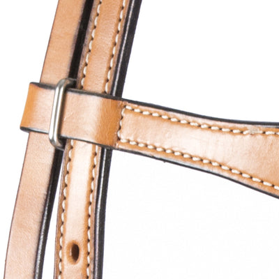 Teskey's Light Oil Scalloped Browband Headstall Tack - Headstall Sale Teskey's Teskeys