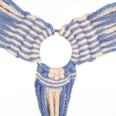 Steel Blue/Natural Woven Breast Collar Tack - Breast Collars Teskeys Teskeys