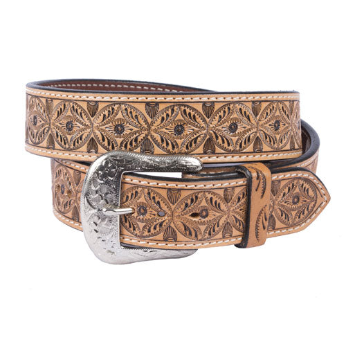 Teskey's Light Oil Scrolling Circle Belt MEN - Accessories - Belts & Suspenders Teskey's Belts Teskeys