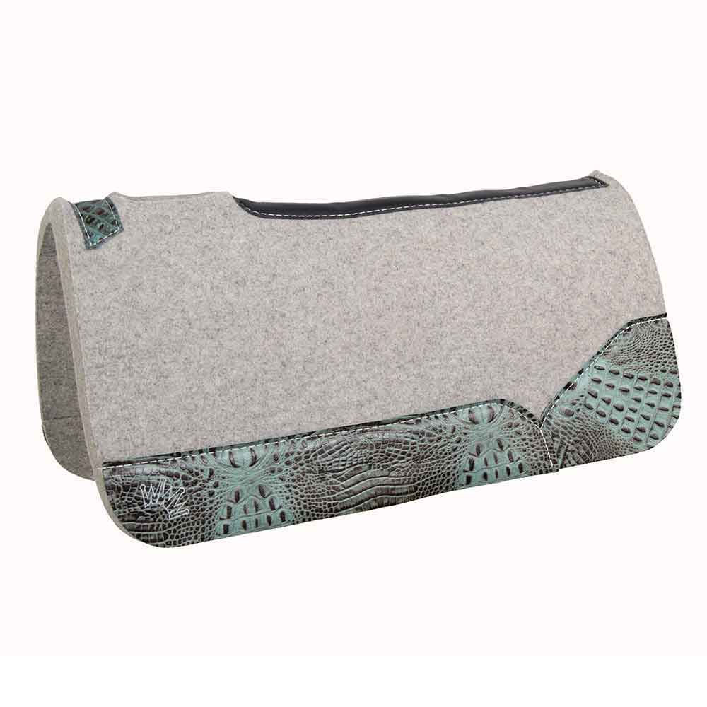 Kush Collection Best Ever Wool Saddle Pad with Gator Print Tack - Saddle Pads Teskeys Teskeys