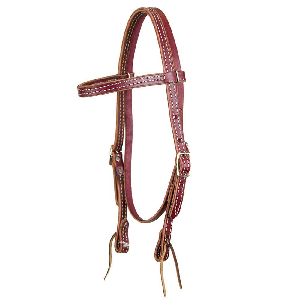 Teskey's Latigo Leather Browband Headstall Tack - Headstalls - Browband Teskey's Teskeys