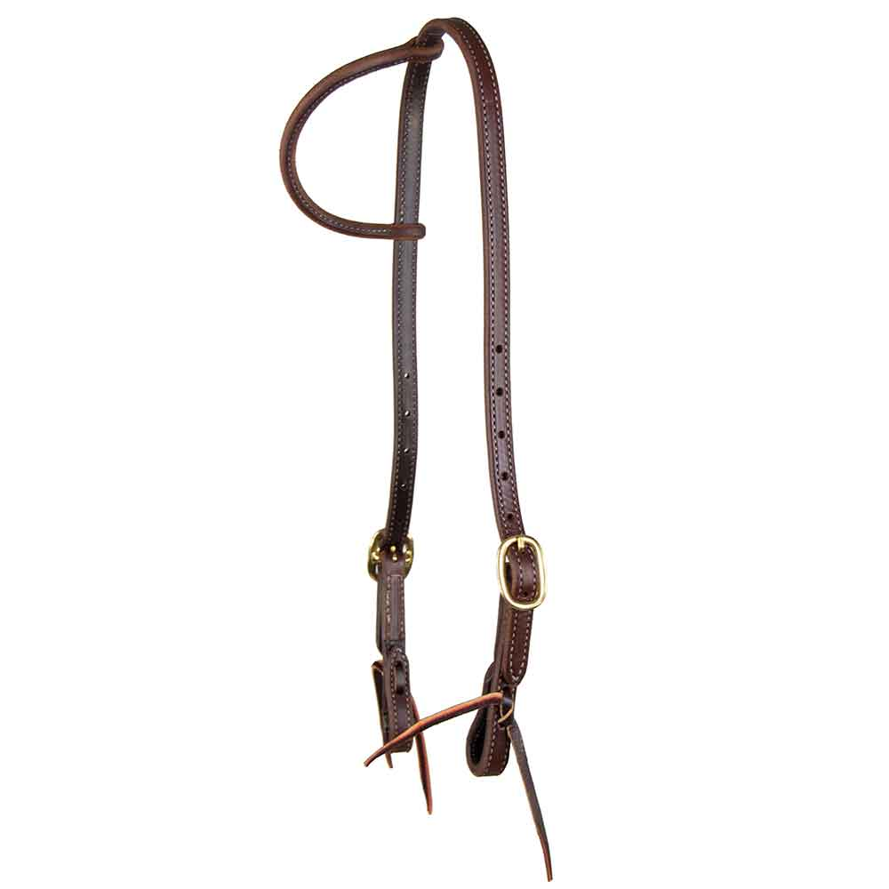 Teskey's Heavy Oil One Ear Headstall Tack - Headstalls Teskey's Teskeys